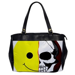 Skull Behind Your Smile Office Handbags by BangZart