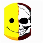 Skull Behind Your Smile Small Garden Flag (Two Sides) Back