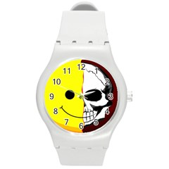 Skull Behind Your Smile Round Plastic Sport Watch (m) by BangZart