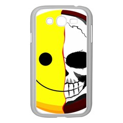Skull Behind Your Smile Samsung Galaxy Grand Duos I9082 Case (white) by BangZart