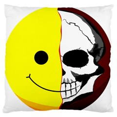 Skull Behind Your Smile Standard Flano Cushion Case (two Sides) by BangZart