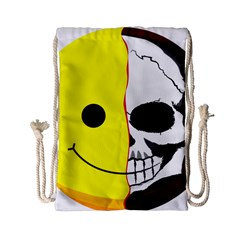 Skull Behind Your Smile Drawstring Bag (small)