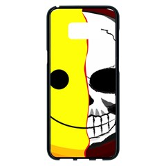 Skull Behind Your Smile Samsung Galaxy S8 Plus Black Seamless Case by BangZart