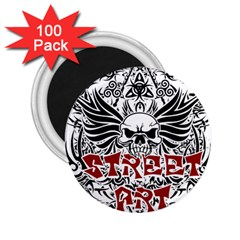 Tattoo Tribal Street Art 2 25  Magnets (100 Pack)  by Valentinaart