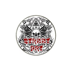 Tattoo Tribal Street Art Hat Clip Ball Marker (4 Pack) by Valentinaart