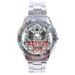 Tattoo Tribal Street Art Stainless Steel Analogue Watch by Valentinaart
