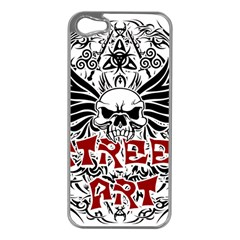 Tattoo Tribal Street Art Apple Iphone 5 Case (silver) by Valentinaart