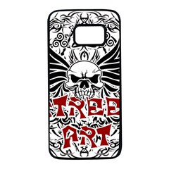 Tattoo Tribal Street Art Samsung Galaxy S7 Black Seamless Case by Valentinaart