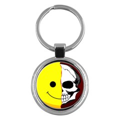 Skull Behind Your Smile Key Chains (round)