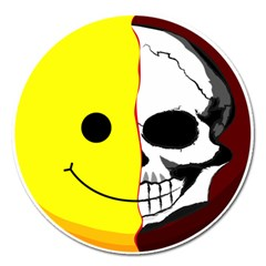 Skull Behind Your Smile Magnet 5  (round)