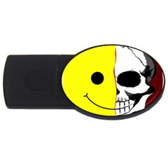 Skull Behind Your Smile Usb Flash Drive Oval (4 Gb) by BangZart