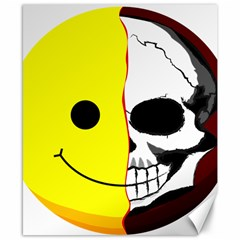 Skull Behind Your Smile Canvas 8  X 10  by BangZart