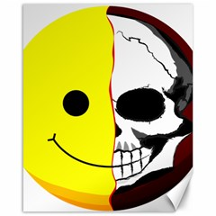 Skull Behind Your Smile Canvas 16  X 20   by BangZart