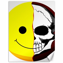 Skull Behind Your Smile Canvas 36  X 48   by BangZart