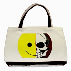 Skull Behind Your Smile Basic Tote Bag (two Sides) by BangZart