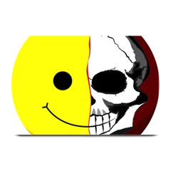 Skull Behind Your Smile Plate Mats by BangZart