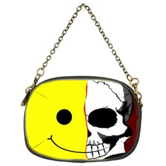 Skull Behind Your Smile Chain Purses (one Side)  by BangZart