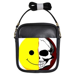 Skull Behind Your Smile Girls Sling Bags by BangZart
