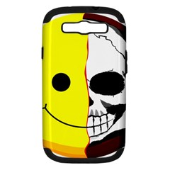 Skull Behind Your Smile Samsung Galaxy S Iii Hardshell Case (pc+silicone) by BangZart
