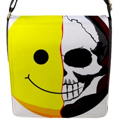 Skull Behind Your Smile Flap Messenger Bag (s) by BangZart