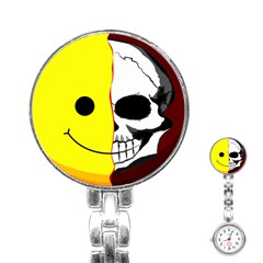Skull Behind Your Smile Stainless Steel Nurses Watch by BangZart