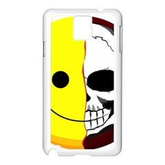 Skull Behind Your Smile Samsung Galaxy Note 3 N9005 Case (white)