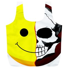 Skull Behind Your Smile Full Print Recycle Bags (l)  by BangZart