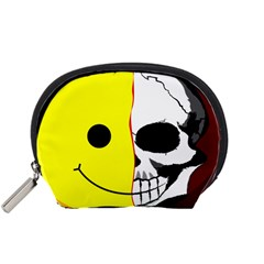 Skull Behind Your Smile Accessory Pouches (small)  by BangZart