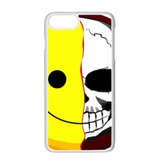 Skull Behind Your Smile Apple Iphone 7 Plus White Seamless Case by BangZart