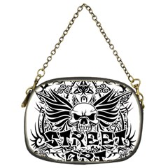 Tattoo Tribal Street Art Chain Purses (two Sides)  by Valentinaart