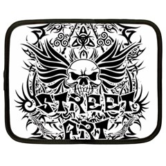 Tattoo Tribal Street Art Netbook Case (xxl)  by Valentinaart