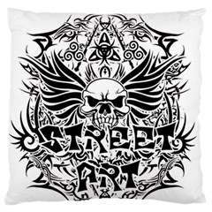 Tattoo Tribal Street Art Large Flano Cushion Case (two Sides) by Valentinaart