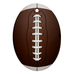Football Ball Ornament (oval) by BangZart