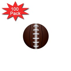 Football Ball 1  Mini Buttons (100 Pack)  by BangZart
