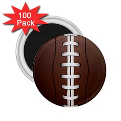 Football Ball 2 25  Magnets (100 Pack)  by BangZart