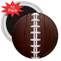 Football Ball 3  Magnets (10 Pack)  by BangZart