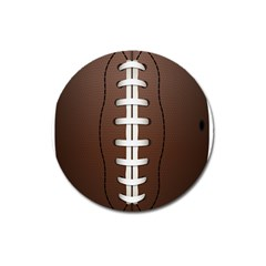 Football Ball Magnet 3  (round) by BangZart