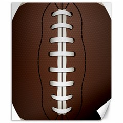 Football Ball Canvas 8  X 10  by BangZart