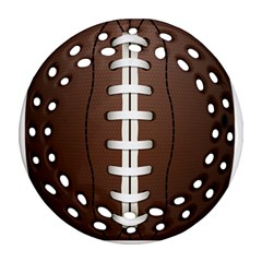 Football Ball Round Filigree Ornament (two Sides) by BangZart