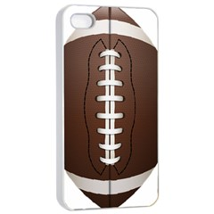 Football Ball Apple Iphone 4/4s Seamless Case (white) by BangZart