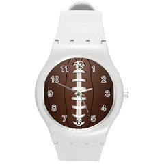 Football Ball Round Plastic Sport Watch (m) by BangZart