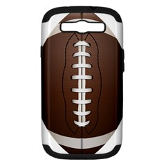 Football Ball Samsung Galaxy S Iii Hardshell Case (pc+silicone) by BangZart