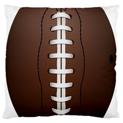 Football Ball Large Flano Cushion Case (two Sides) by BangZart