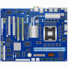 Classic Blue Computer Mainboard Canvas 8  X 10  by BangZart
