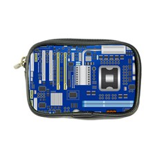 Classic Blue Computer Mainboard Coin Purse by BangZart