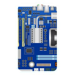 Classic Blue Computer Mainboard Memory Card Reader by BangZart