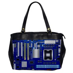 Classic Blue Computer Mainboard Office Handbags by BangZart