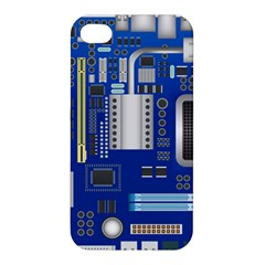 Classic Blue Computer Mainboard Apple Iphone 4/4s Hardshell Case by BangZart