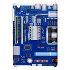Classic Blue Computer Mainboard Apple Ipad Mini Hardshell Case by BangZart