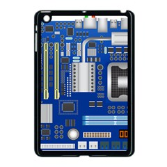 Classic Blue Computer Mainboard Apple Ipad Mini Case (black) by BangZart